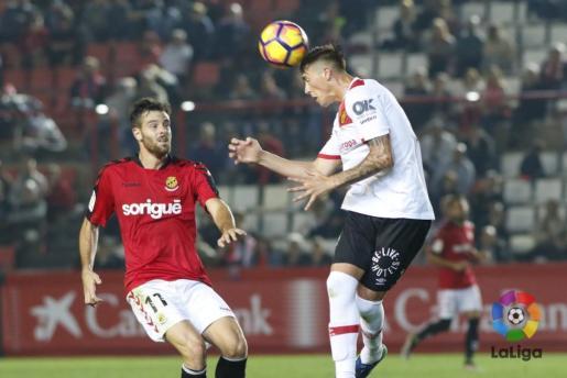 En la imagen, el defensa del RCD Mallorca, Antonio Raillo.