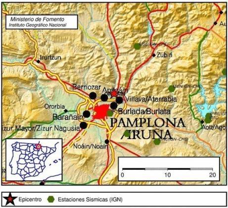 Zona en la que se ha sentido el terremoto.