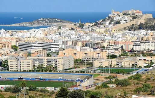 En la imagen de archivo, vista general de la ciudad de Eivissa desde el barrio de Can Misses