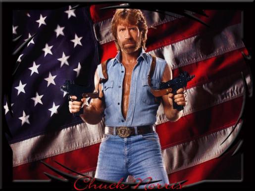 Chuck Norris, actor reconocido internacionalmente por sus papeles de héroe viril en films de acción.