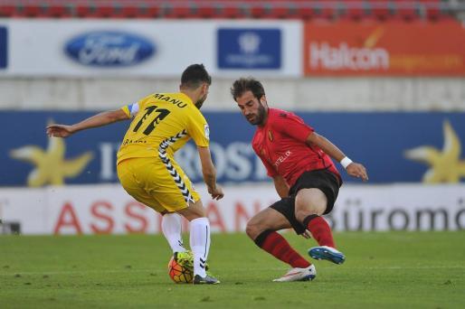 Imagen de un anterior partido entre el Mallorca y el Lugo.