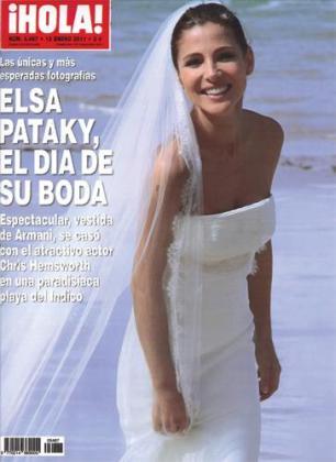 La actriz aparece radiante en la portada de la revista Hola.