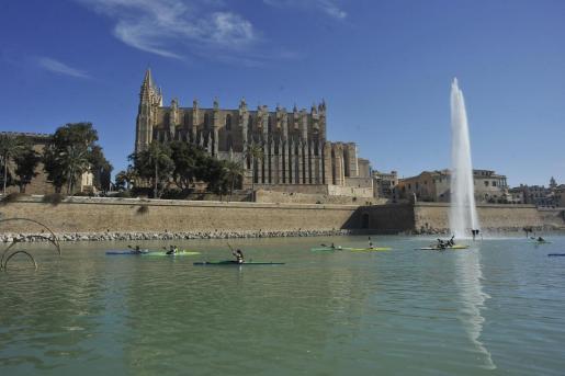 La Catedral ha sido testigo de la competición de piragüismo femenino.