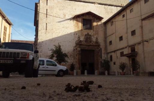 El patio del convento de Santa Clara.
