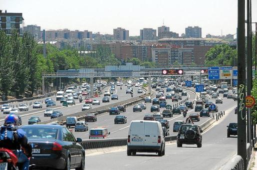 Imagen reciente de uno de los accesos a la capital española.