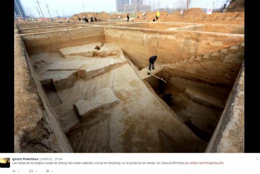 Imagen de la excavación sustentada por el proyecto arqueológico 'Ciudad sobre Ciudad'.