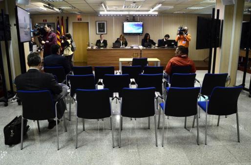La sala donde la Audiencia de Palma celebró el juicio por el caso Nóos.