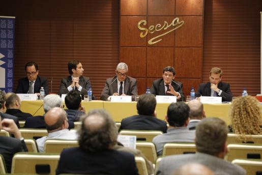 El presidente de la Sareb, Jaime Echegoyen, mantuvo este lunes una reunión con los Promotores Inmobiliarios de Baleares.