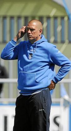 El técnico del Atlètic Balears, Christian Ziege, en Son Malferit.