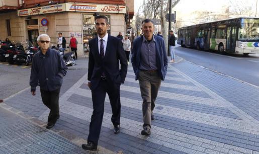 Joan Mut, exjefe de la policía local de Palma, a su llegada a los juzgados de Palma.