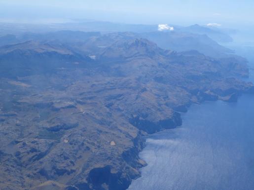 Vista aérea de la Serra de Tramuntana.
