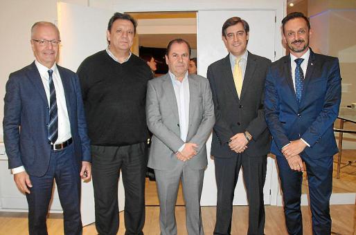 Biel Pons, Xisco Mulet, Josep Mallol, Saúl Herrero y Jesús Martínez.
