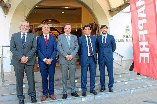 Alejandro López Aliaga, Óscar Celada, Juan José Almazán, Jaime Sobrino y Borja Fernández Galiano.