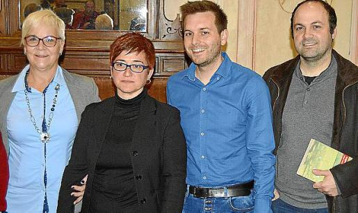 Magdalena Moyà, Maria Coll, Andreu Villalonga y Pere Pol.