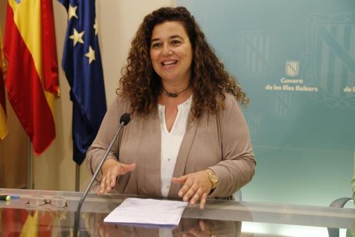 Imagen de archivo de la portavoz del ejecutivo en rueda de prensa posterior al Consell de Govern.
