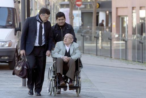 El expresidente del Palau de la Música Felix Millet, a su llegada a la Ciutat de la Justicia de Barcelona.