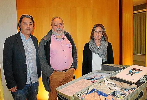 Juan Mascarell, Josep Benedicto y Juana López.