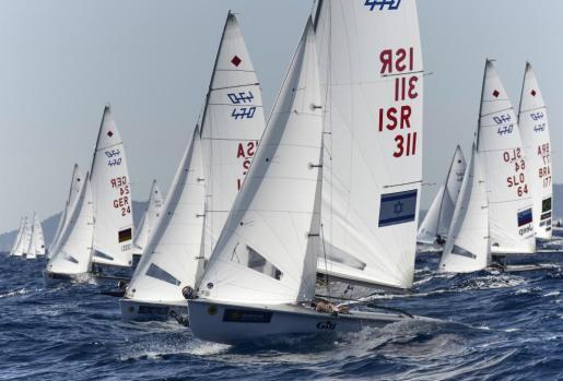 Regata del 47 Trofeo Princesa Sofía-Iberostar en aguas de la bahía de Palma.