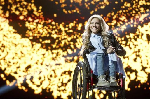 Fotografía que muestra a la cantante y representante de Rusia en el festival de Eurovisión Julia Samóylova.
