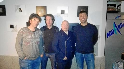 Pep Coll, Pere Joan Martorell, Josep Lluís Aguiló y Tomeu Coll.