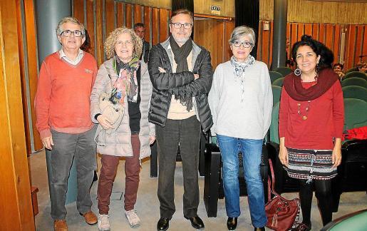 Pere Llinàs, Antònia Mas, Guillem Negre, Sandra Mirri y Pamela Forteza.
