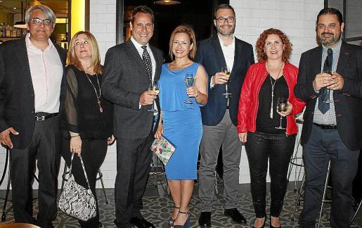 Antoni Marí, Lia Moreno, Alfredo Arias, Roser Fuster, José Hila, Mariángeles Fernández y Tomeu Morro.