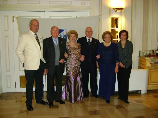 Eckart Hoppner, Tolo Juan, María Fullana, Juan Ceva, Huguette Mestre y María Antonia Martorell, miembros de la junta del Skal Club de Mallorca.