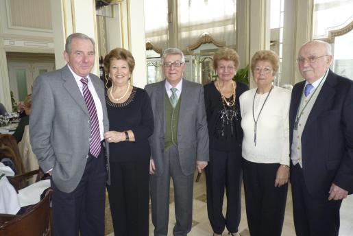 Joan Company, Ana Caldentey, Joan Sampol, María y Catalina Company y José Pomar