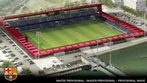 Imagen provisional de lo que será el nuevo estadio 'Johan Cruyff'