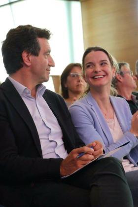 Biel Company y Marga Prohens durante el el congreso regional del PP celebrado el pasado fin de semana.