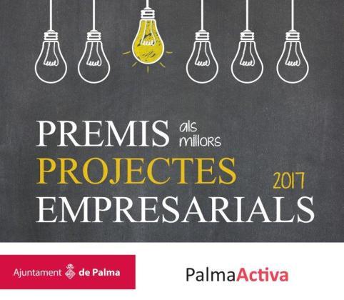 Cartel de la XV edición de los Premios a los mejores proyectos empresariales 2017.
