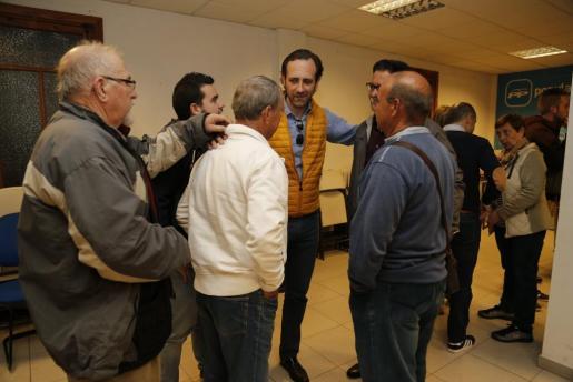 José Ramón Bauzá presidió este lunes una amarga reunión en la Junta Local de Marratxí.
