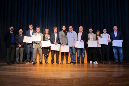 Todos los galardonados en los Premis Gastronòmics 2016 de la Associació de Periodistes i Escriptors Gastronòmics de Balears,