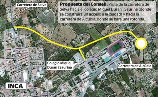 Gráfico de la propuesta del Consell de la ronda de Inca.