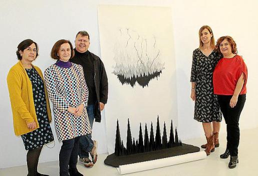 Marilén Mayol, Irene Mestre, Pep Guerrero, Olimpia Velasco y Jero Martínez, en Galeria Maior.