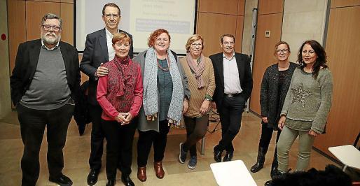 Miquel Rosselló, Francisco Arriero, Pilar Pérez, Ruth Mateu, Lila Thomàs, José María Gago, Marina Crespí y Susana Fernández.