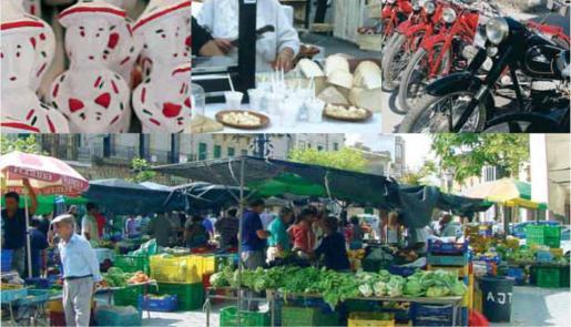 El mercadillo semanal de s'Arenal de Llucmajor ofrece principalmente fruta y verduras.