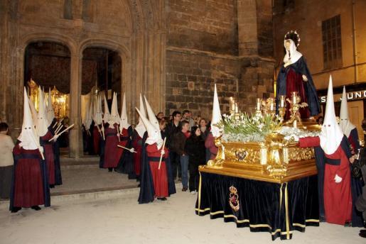 Procesión de la Virgen Dolorosa en Palma.