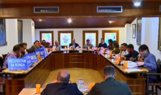 Un momento del pleno celebrado este jueves en el Ajuntament d'Inca cuyo tema central fue el proyecto de la Ronda Nord.