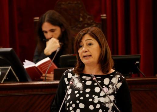 La presidenta se ha pronunciado sobre el acto del rapero condenado en un instituto de Mallorca.