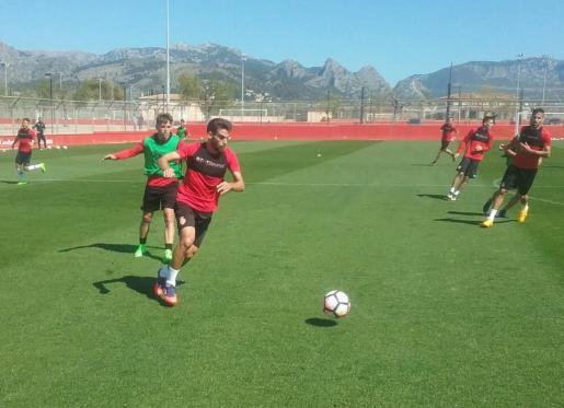 Entrenamiento de este martes del RCD Mallorca.