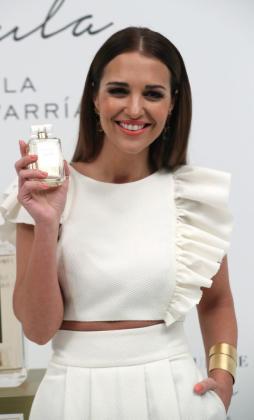 En la imagen, la actriz Paula Echevarría durante la presentación de su nuevo perfume.
