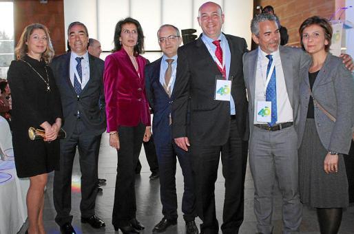 Pilar Sansó, Juan Mazariego, Carmen Planas, Mariano Rodríguez, José García Mínguez, Francisco López Nieto e Inmaculada Munar.