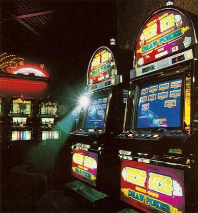 Imagen de archivo de un salón de juegos.
