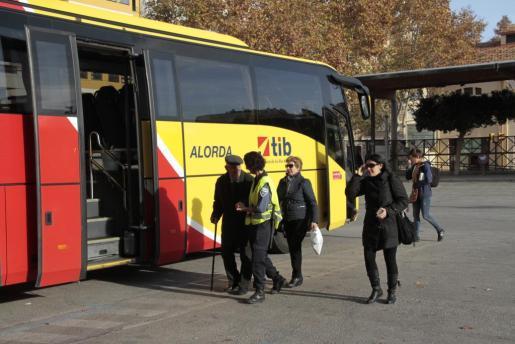 Un autobús en la estación Intermodal de Palma.