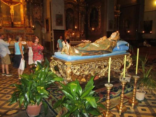 Lecho de la Mare de Deu s'Agost en la parròquia de Sant Bartomeu.