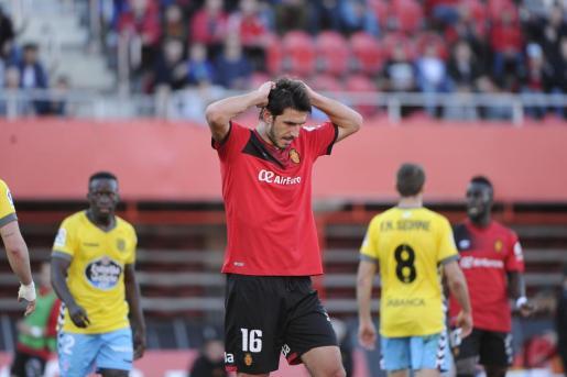 Dejan Lekic durante el partido entre el Real Mallorca y el Lugo.
