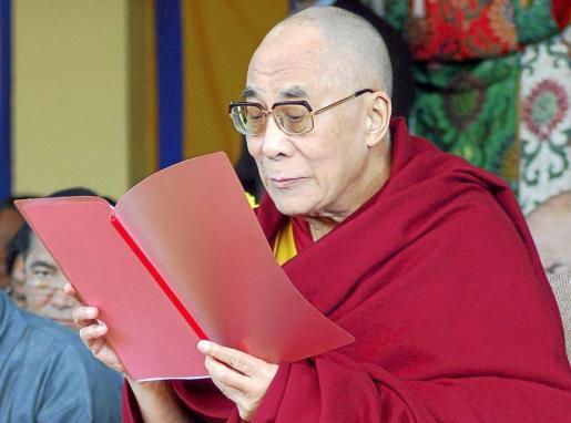 El líder espiritual y político de los tibetanos, en la conmemoración del 52 aniversario del levantamiento del Tíbet.