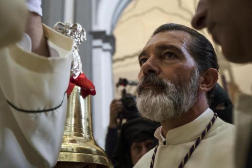 Antonio Banderas y su corazón cofrade, como reza la letra del himno de María Santísima de Lágrimas y Favores.