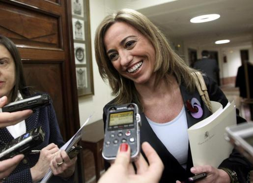 Imagen de archivo de la exministra de Defensa Carmen Chacón.